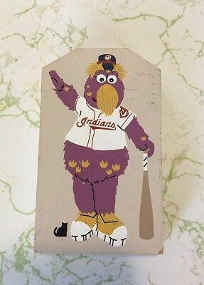 Cat's Meow Village MLB Cleveland Indians Baseball OH Mascot SLIDER 1995