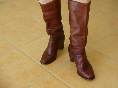 Catleia Leather Knee High Ladies Boots Brazlian Mid Brown Size 6 or Euro 36 VG C