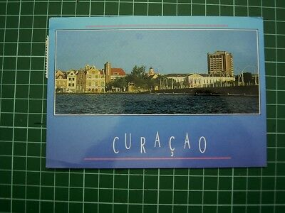 POSTCARD - VIEW - WILLEMSTAD, CURACAO  - Postmarked 1995 - Used
