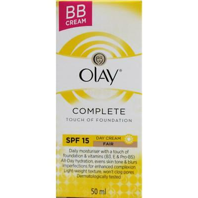 OLAY 50ml COMPLETE TOUCH OF FOUNDATION BB CREAM SPF 15 FAIR