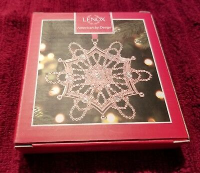 Lenox Colors of Gold Rose Gold Hexagon Snowflake Ornament New In Box Retail $80