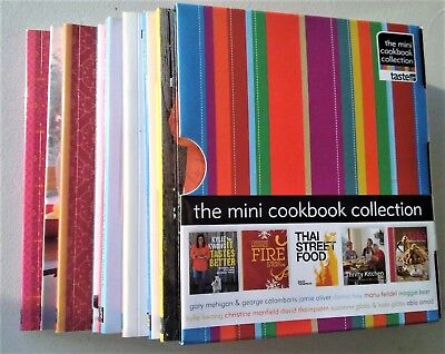 THE MINI COOKBOOK COLLECTION BOXED - Maggie Beer Kylie Kwong Jamie Oliver Manu