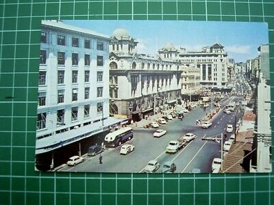 1960's POSTCARD - VIEW of QUEEN STREET - AUCKLAND - NEW ZEALAND - Used