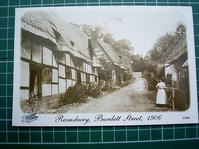 1990's POSTCARD - View of RAMSBURY BURDETT ST as it was in 1906 - ENGLAND - Used