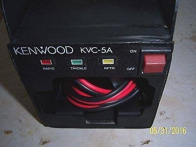 USED KENWOOD KVC 5a VEHICLE CHARGER for TK 280, 290, 380, 390. W/ BRACKET & CORD