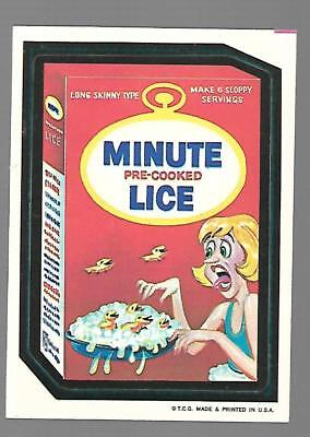 1973 1st Series 1 Topps Wacky Packages MINUTE LICE White Back Card