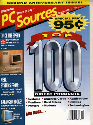 Vintage PC Source Catalog October 1992 Top 100 Products