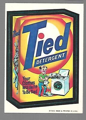 1973 1st Series 1 Topps Wacky Packages TIED White Back Card