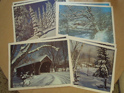 Americana Christmas Vintage Set of 8 Placemats 1960's - Washable & Reversible