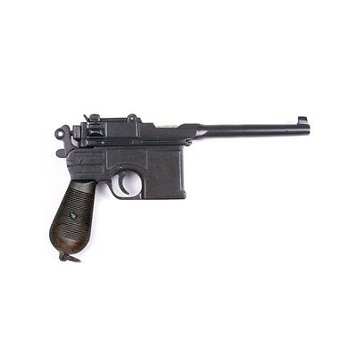WWII 1896 Mauser Automatic Pistol Non-Firing Replica with Lacquered Grips