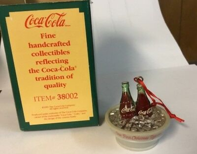 """Coca-Cola Christmas Ornament- """"Our First Christmas Together"""" Collectible"""