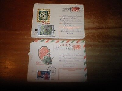 2 X Postal Stationery Russia Covers.