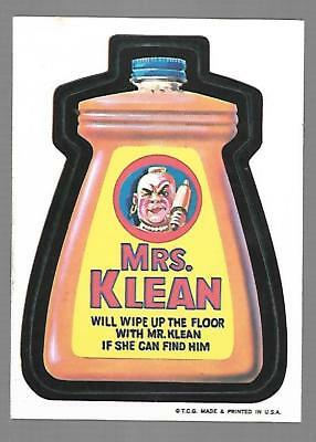 1973 1st Series 1 Topps Wacky Packages MRS. KLEAN White Back Card