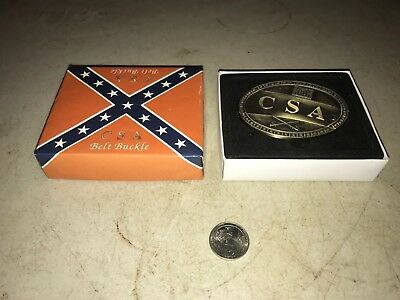 CSA Confederate States Belt Buck with Detachable Knife with Box