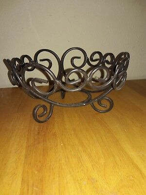Vintage Wrought Iron Pot Plant Stand Flower Pot Holder