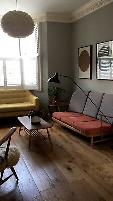 Ercol blonde Windsor Sofa, 3 Seater, Mid Century, Vintage, Retro, Refurbished