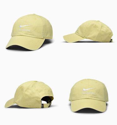 sports shoes 2d8a2 a374a Nike SB H86 Twill Cap 828635-721 Adjustable Hat Skateboarding Lemon Wash  White