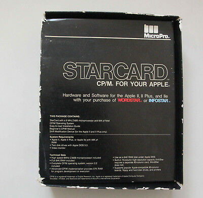 Classic and Rare Apple Star Card Z80B CPU for Apple ][ ][+ IIe