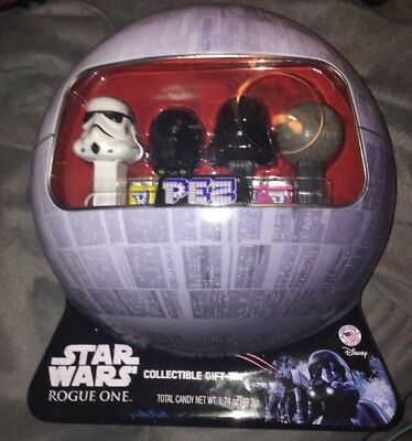 Star Wars Rogue One PEZ COLLECTIBLE TIN w/ Death Vader Death Star Stormtrooper