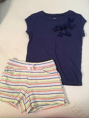 Girls toddler size 3/3T Gymboree shorts with Carters tshirt GUC