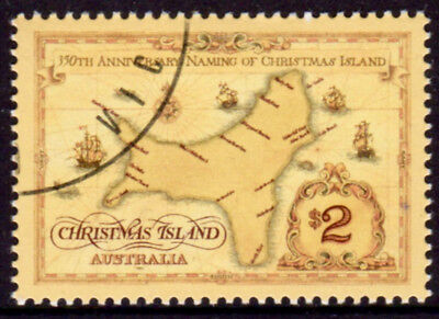 1993 Christmas Island Naming $2 Map, CTO Cancelled to Order