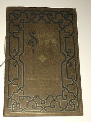 """Wadsworth Watch Case Co.  """"Success Thoughts"""" ART NOUVEAU Employee Book"""