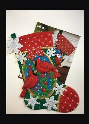 Bucilla Felt Stocking Kit - Cardinals