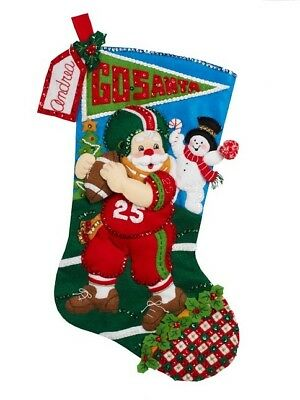 Bucilla Felt Stocking Kit - Football Santa