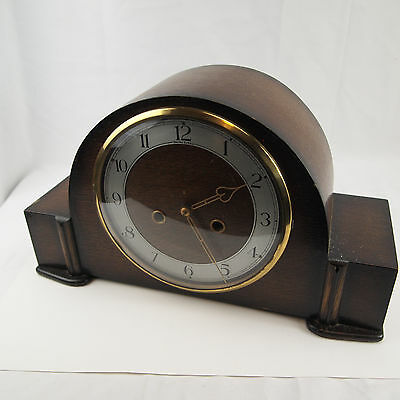 Smiths Enfield Westminster Chime Wooden Case Art Deco Mantel Clock - UNTESTED