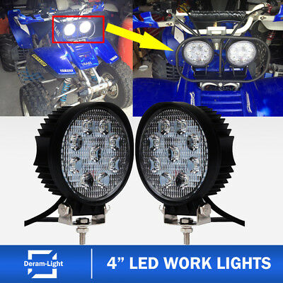 "4"" LED Work Light ATV Fog Headlight 1987-2004 Yamaha warrior 350 YFM350X Bike 3"""
