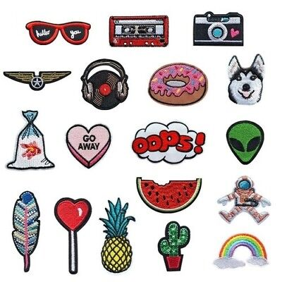 30 Differents Styles Animals Parches Embroidery Iron Patches Clothing Appliques