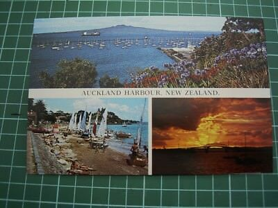 1980'S POSTCARD - Views in/ around AUCKLAND HARBOUR - NEW ZEALAND - NEW