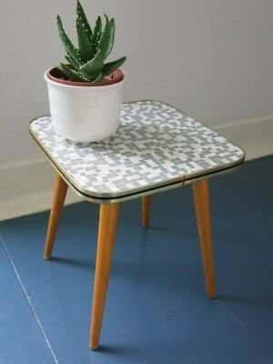 Vintage Mid Century Patterned East German Plant Table 20th Century Plant Stand
