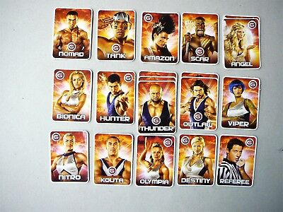Rare Gladiators Collectors Cards - 2008 From TV Series
