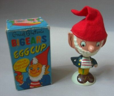 Boxed Vintage Wooden 1960's Noddy - Big Ears Egg Cup with Red Hat