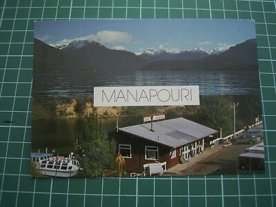 1980'S POSTCARD - 2 VIEWS of MANAPOURI - NEW ZEALAND - NEW
