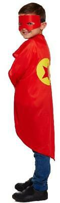 SUPERHERO CAPE & MASK kids party birthday costume fancy dress children superman