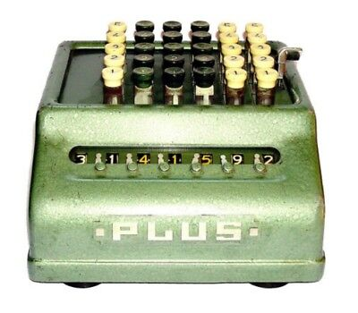 Rare Antique Mechanical Adding  Calculator Plus 506 Bell Punch Company Limited