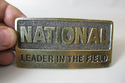 National Leader In The Field / Brass Belt Buckle  Armco