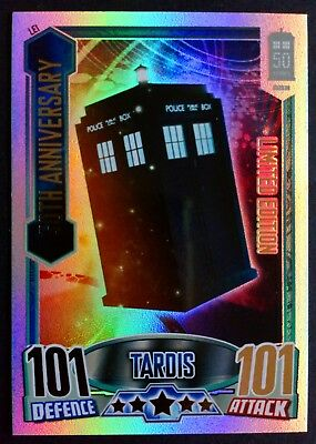 Dr Who 50th Anniversary Limited Edition Holofoil Tardis Card LE1