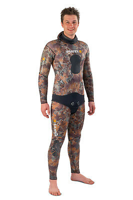 Mares Pure Instinct 5,5 mm Spearfishing Freediving Wetsuit Pants, Brown Camo