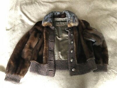 Maxwell Croft mink leather jacket ladies great condition size10 great condition!
