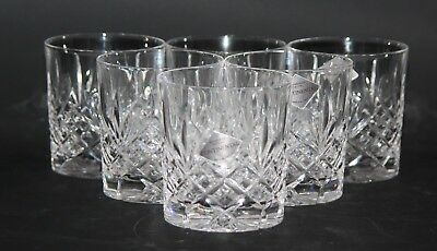 "Edinburgh Crystal Continental - Set of 6 x 3"" Whisky Glasses / Tumblers - vgc"