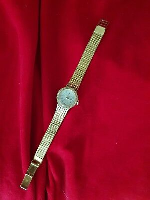 Ladies Vintage Titoni Wind Up Watch Swiss Made Gold Plated Steel Back Working