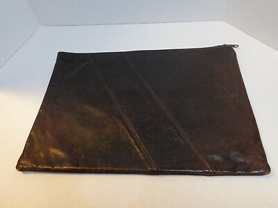 VIRGINIA TECH COLLEGE OF ENGINEERING Zippered Leather Executive Folio Vintage