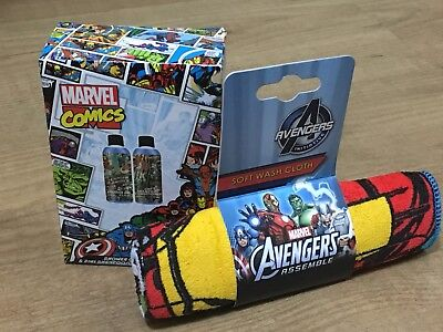 Marvel Comics Travel Set Shampoo, Shower Gel and Soft Wash Cloth