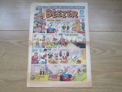 """THE BEEZER COMIC, No 207 - JAN 2nd 1960  Good Condition """"All The Best For 1960"""""""