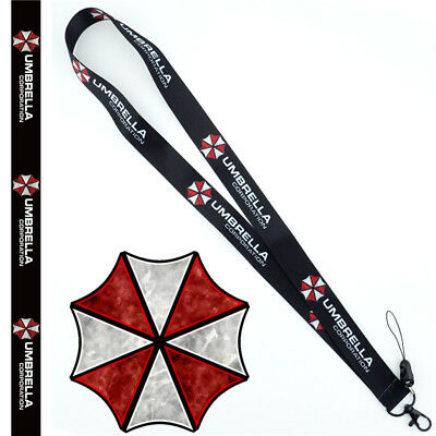 Resident Evil Umbrella Lanyard Neck Strap Cell Phone Rope Keychain Cosplay Gift