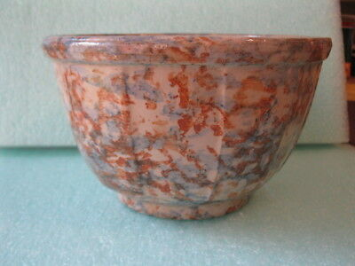 Red Wing #7 Spongeware Panel Bowl   Kennedy Cash Store Rio WI