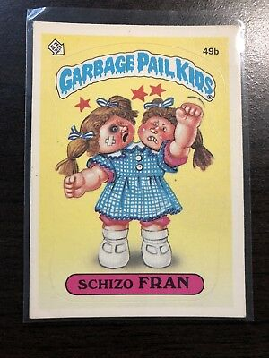 Garbage Pail Kids - 49b Schizo Fran Series 2 - OS2 USA - Second -1985- RARE!